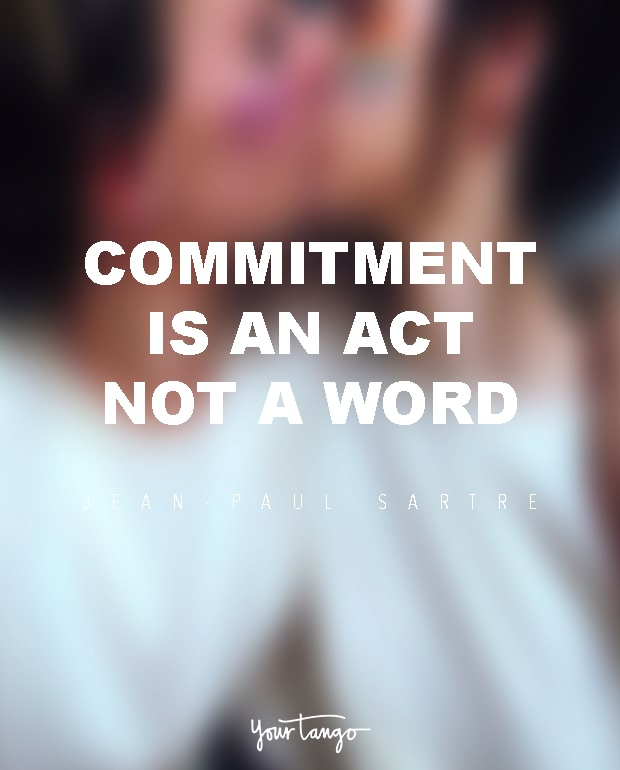 Difference between dating and committed relationship quote