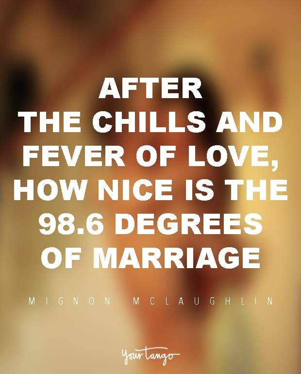 After The Chills And Fever Of Love How Nice Is 986 Degrees Marriage