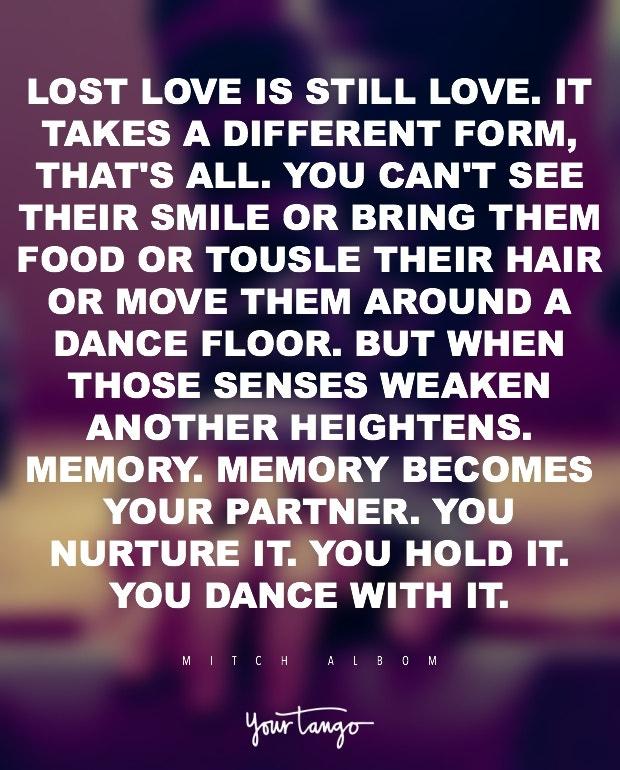 Mitch Albom romantic love quote
