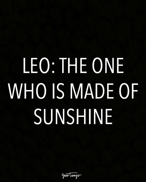 leo zodiac signs in one sentence