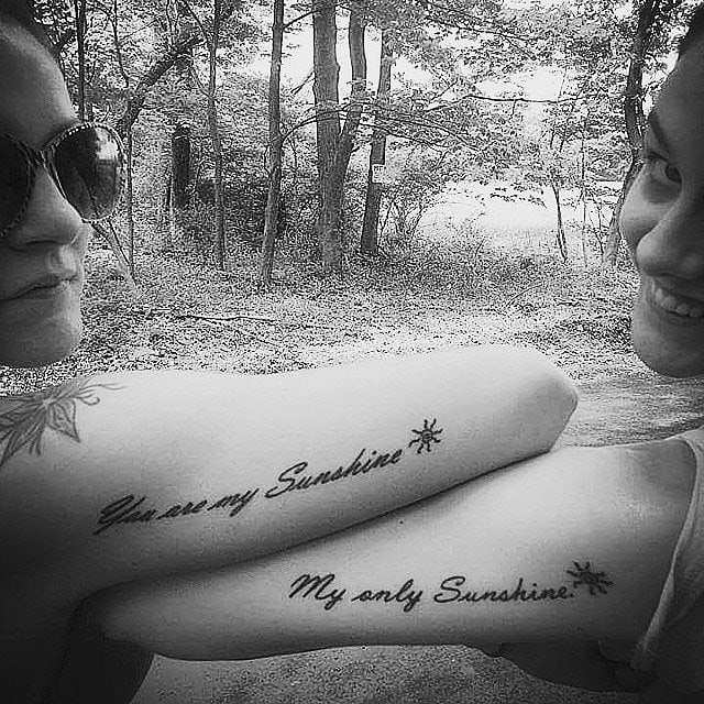 You are my sunshine matching best friends tattoo