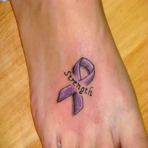 strength cancer tattoo