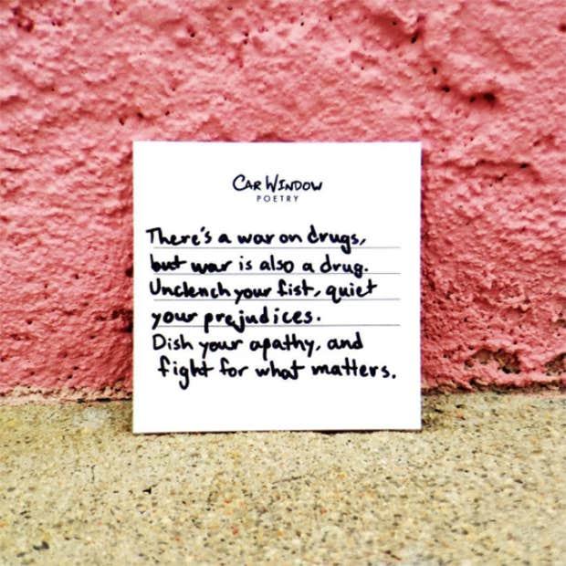 Car Window Poetry Windsheild Poet Inspirational Quotes