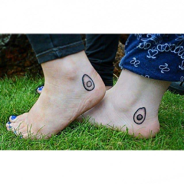 Avocado matching best friends tattoo