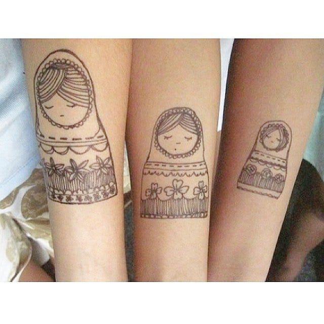 Russian dolls best friends matching tattoos