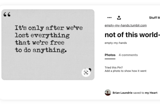 Brian Laundrie Pinterest - only after lost everything
