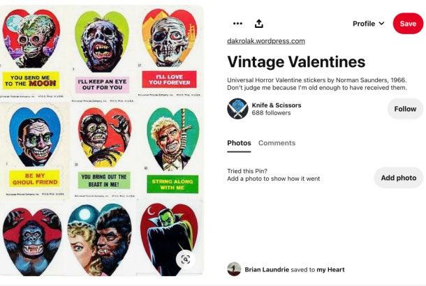 Brian Laundrie Pinterest - vintage valentines