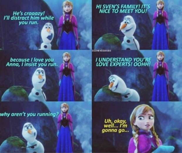olaf and anna frozen