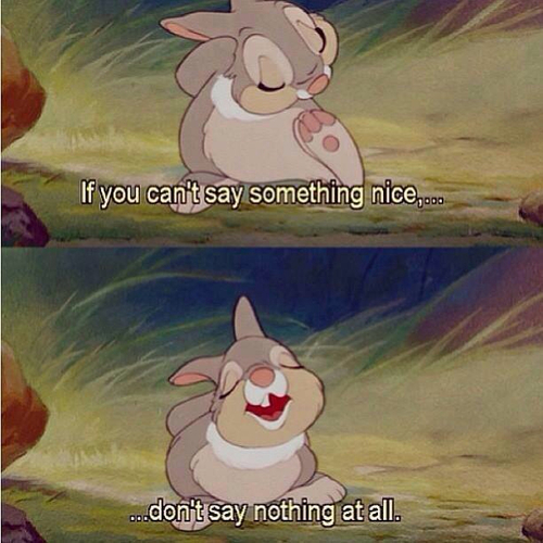 thumper don't say nothing