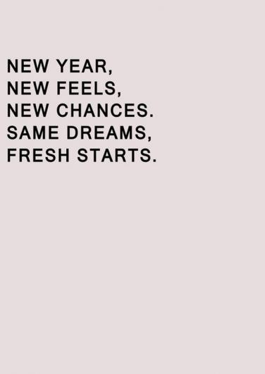 the new year brings new beginnings