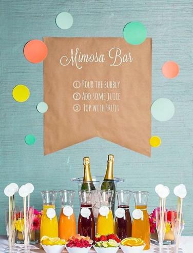 Smarty Had A Party Suggests Setting Up Your Own Mimosa Bar By Assembling Fresh Fruit Delicious Juices And Bubbly Champagne