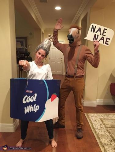 funny pun halloween costume on the watch me whipnae nae song