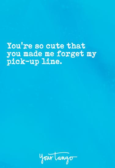 the pick up line for those who dont like pick up lines