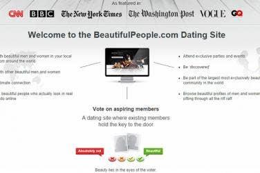 Beautiful people dating service