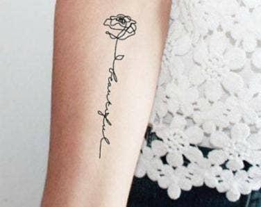 40 Cute Minimalist One Word Tattoo Ideas For Women Yourtango