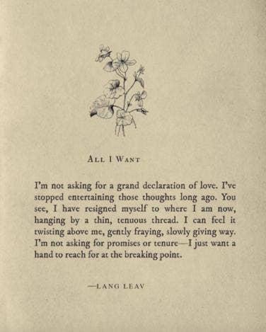 20 Lang Leav Instagram Poems That Redefine The Word Love Yourtango
