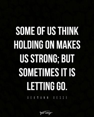 giving up and letting go quotes