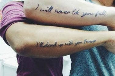 28 Super-Cute Best Friend Quote Tattoos | YourTango