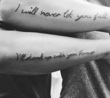 60 SuperRomantic Quote Tattoo Ideas For Couples YourTango Extraordinary Love Tattoos For Couples Quotes
