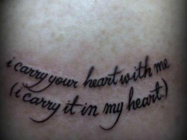 15 Love Quotes To Inspire Your Next Tattoo Yourtango