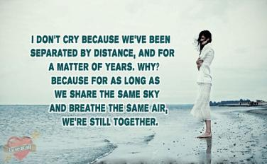 separated by distance but never in heart