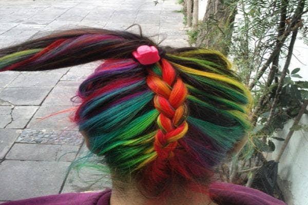 Rainbow unicorn horn.