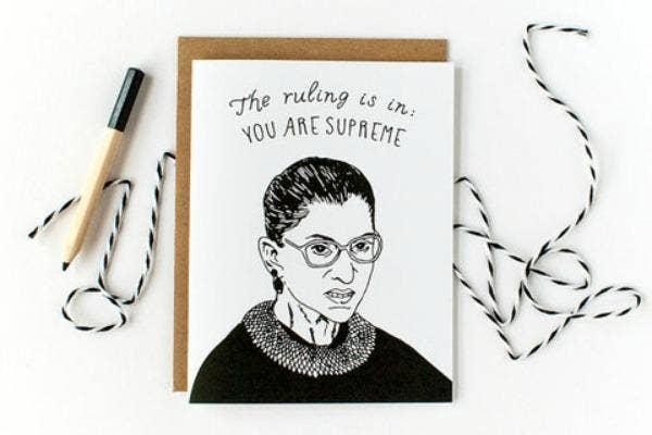 Feminist Gifts: Ruth Bader Ginsburg (Notorious RBG) greeting card