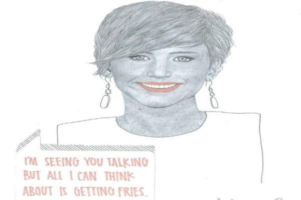 1. Jennifer Lawrence's fries