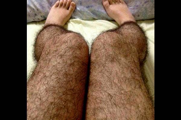 1. Hairy leg stockings