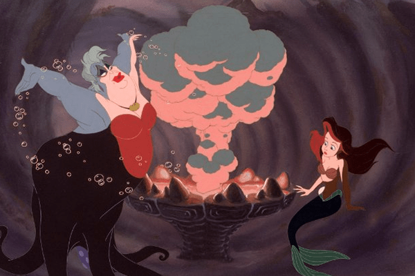Disney princess love lessons: Giving up who you are will land you a man Ariel signing her contract with Ursula to give up her voice in The Little Mermaid