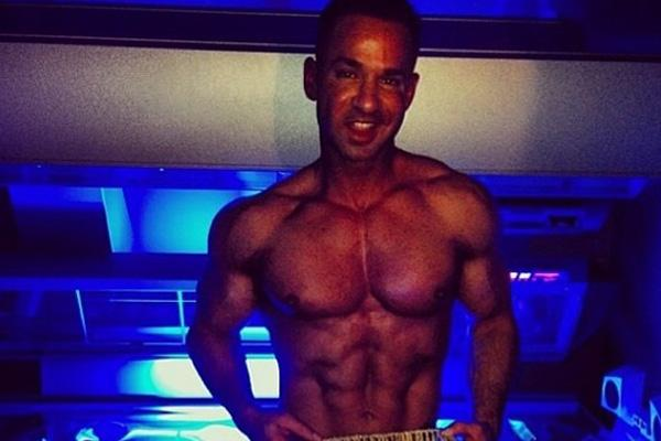 Mike the Situation Sorrentino shirtless in his family tanning salon in New Jersey shore