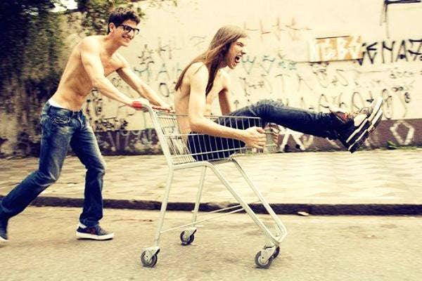 shopping cart friends