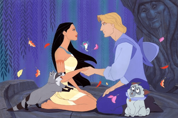 Disney princess love lessons: opposites will attract Pocahontas and John Smith