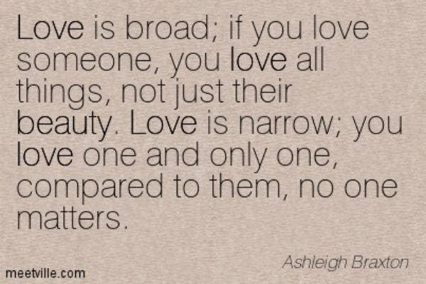 Ashleigh Braxton love quote