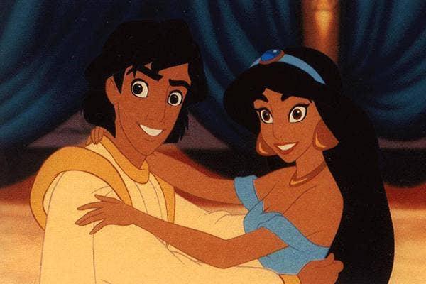Disney princess love lessons: Homeless dudes are sexy Aladdin and Princess Jasmine
