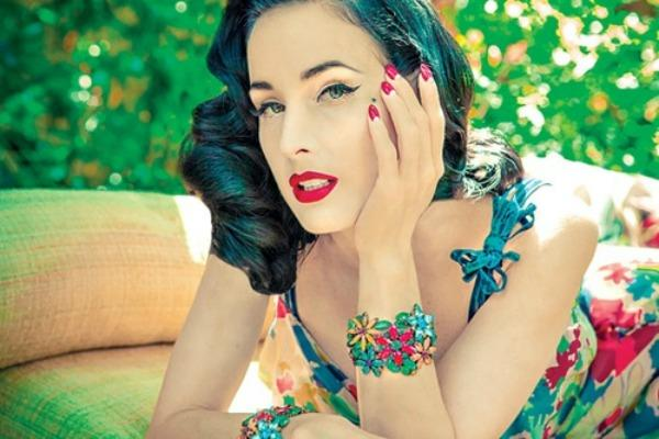 Burlesque Dancer Dita Von Teese