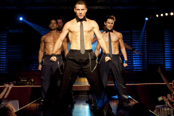 Channing Tatum shirtless in Magic Mike