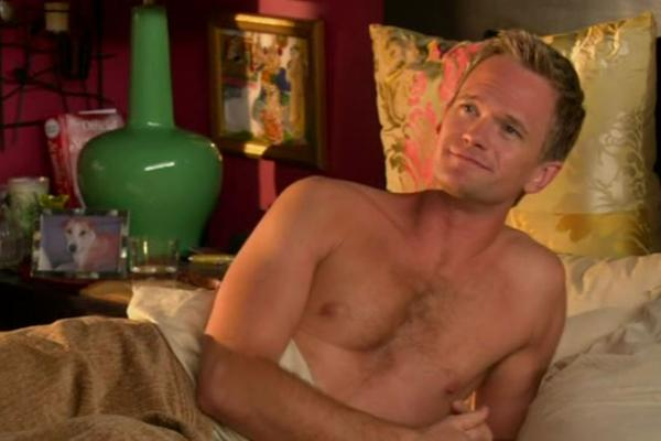 Neil Patrick Harris shirtless on How I Met Your Mother