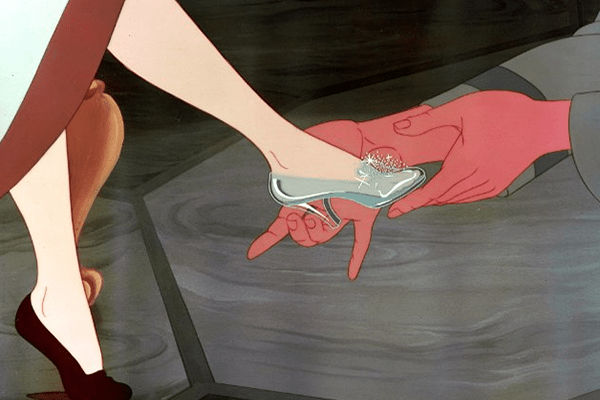 Disney princess love lessons: Soul mates are for real Cinderella trying on the glass slipper