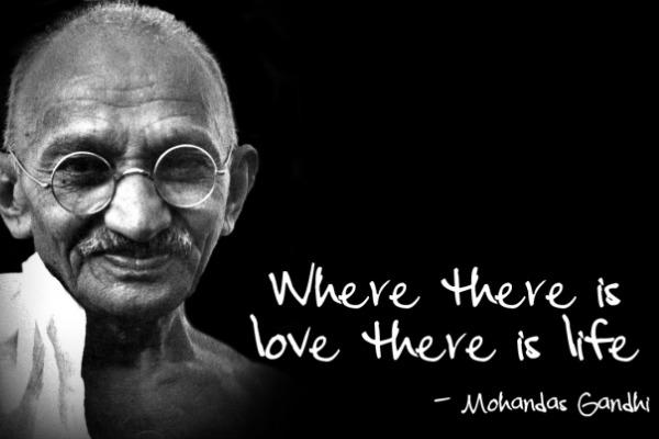 Mohandas Ghandi love quote