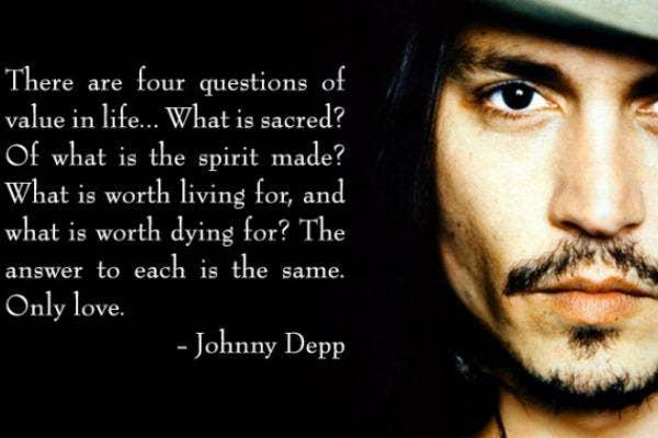 Johnny Depp love quote