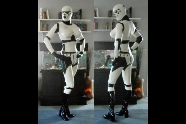 1. Storm Troopers latex suit