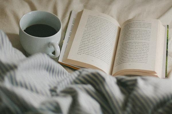 book on bed