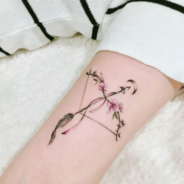 25 Best Zodiac Tattoos Arrow Symbols And Meanings For Sagittarius