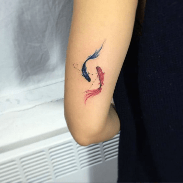 25 Best Fish And Constellation Tattoos For Pisces Zodiac