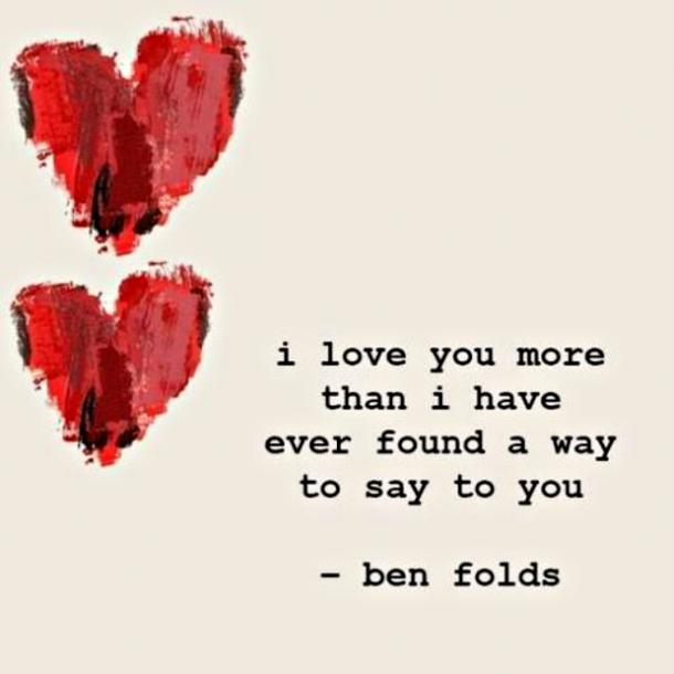 ben folds valentines day caption