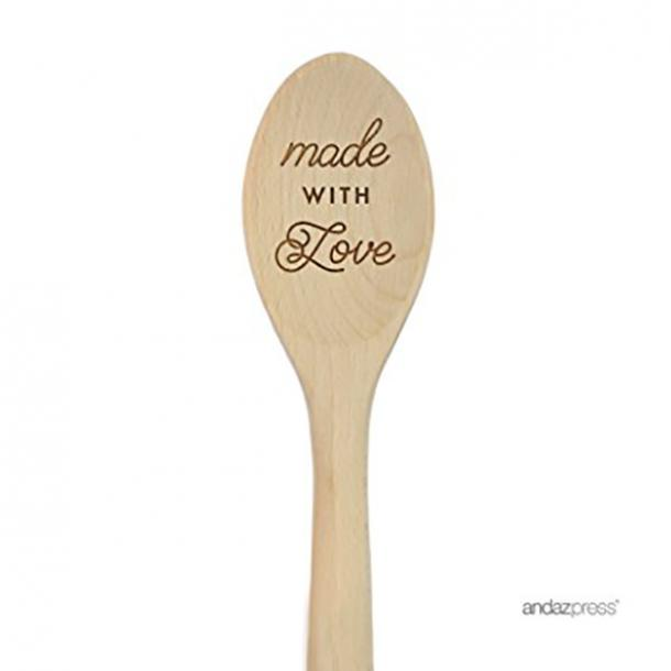 Andaz Press Laser Engraved Wooden Mixing Spoon mothers day gift for girlfriend