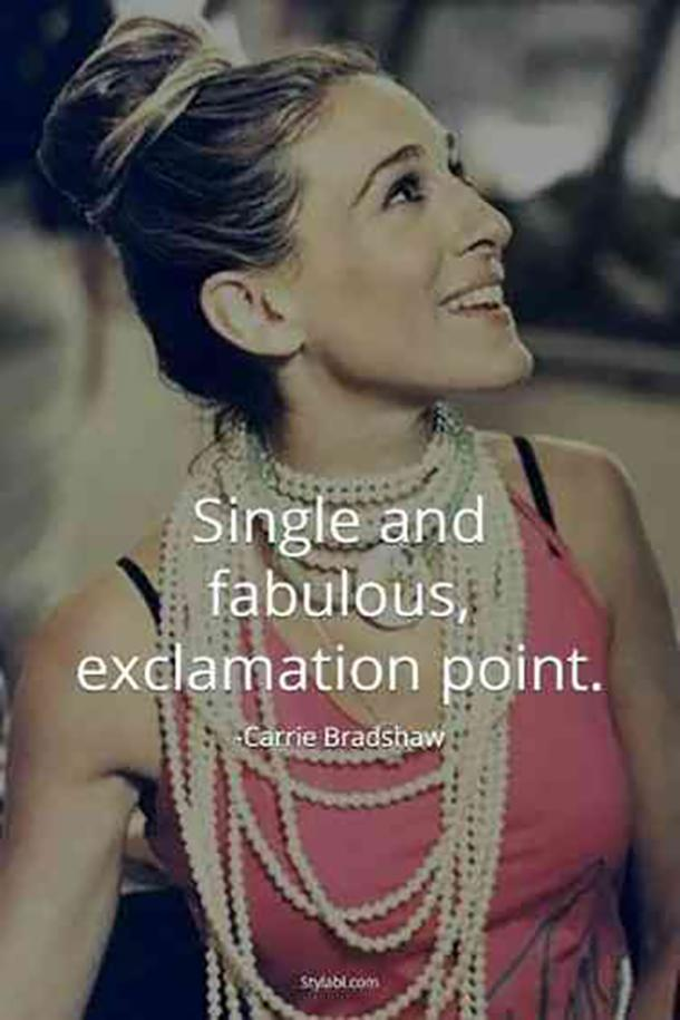 carrie bradshaw funny valentines day quotes for singles