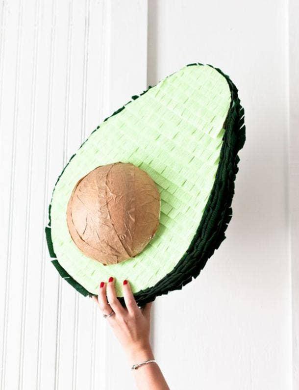 avocado pinata diy cinco de mayo decorations