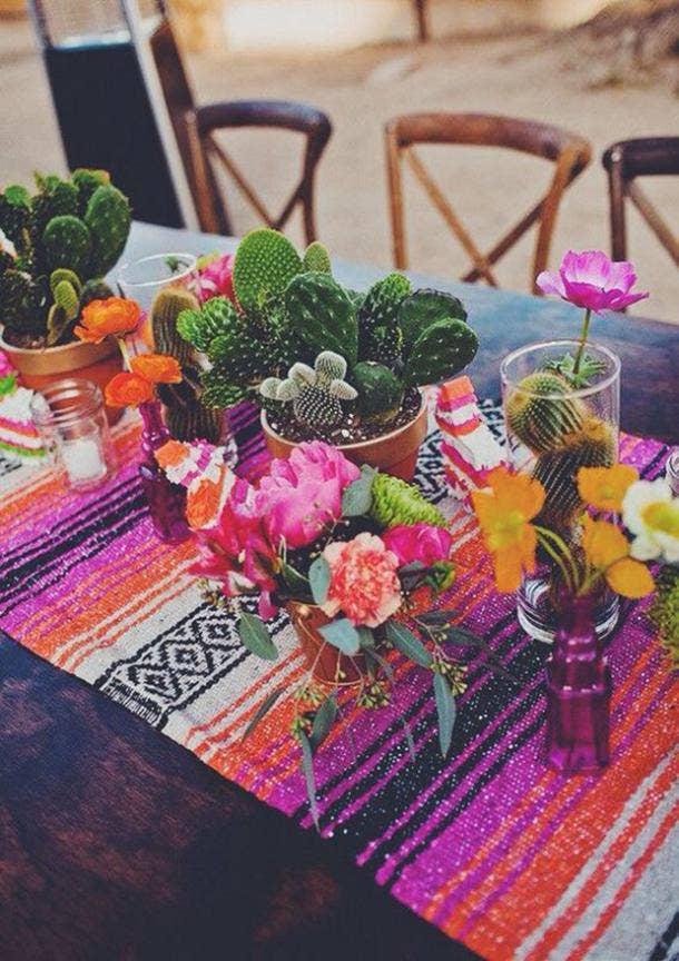 cactus centerpiece diy cinco de mayo decorations